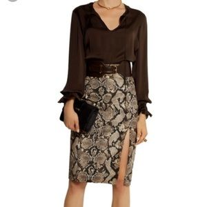 NWT Altuzzara python pencil skirt